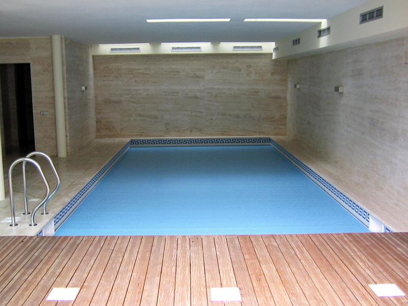 PVC azul opaco